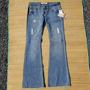 NWT Imperial Star Embroider Distressed Jeans 30x33